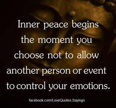"""Baisden Live. Inner peace begins the moment you choose not to allow another person or event to control your emotions.  Always take a moment to stop, breathe, and think to yourself """"I can choose peace, rather than this."""" Always choose peace..."""