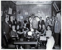 "The Office of Bacardi Rum, Havana Cuba. Hmm, wonder what they're drinking? From an 8x10 Print bought at auction. Back is marked, ""Havana 2/1..."