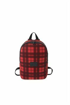 Mesh Plaid Packable Backpack