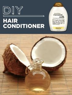 DIY Hair Conditioner - Mix together 1 can of coconut milk, 1 tablespoon of honey, and 1 tablespoon of olive oil.