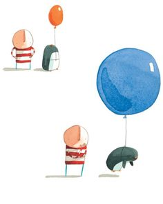 Up and Down by Oliver Jeffers // at Darling Clementine