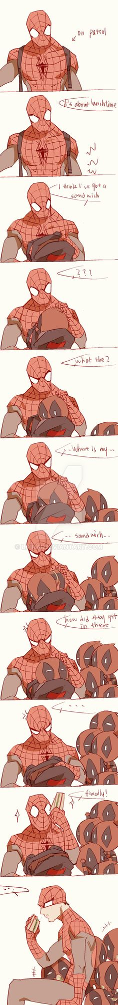 Spideypool222 by LKiKAi.deviantart.com on @DeviantArt