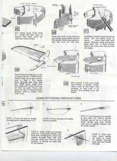 Tandy III leatherworking instructions
