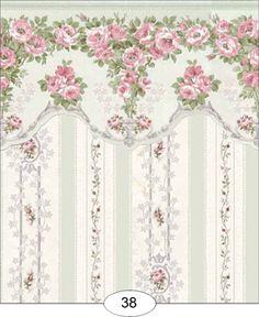 Wallpaper: Blooming Rose IB38 [IB38] - $4.00 : Miniature Dollhouses & Doll…