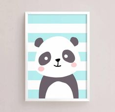 Printable Nursery Art Set of 4 - Fox Panda Lion Bear ( Baby room decor kids Poster Cute Animals kawaii Nursery art Woodland - - Easy Canvas Art, Small Canvas Art, Kids Canvas, Panda Nursery, Nursery Art, Easy Disney Drawings, Cute Drawings, Vogel Illustration, Decoration Creche