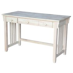 Found it at Wayfair - Unfinished Mission Computer Desk with Pull Out Keyboard Tray