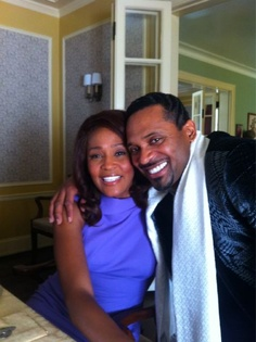 """We love and miss you Whitney!"" - Mike Epps with Whitney Houston on the Sparkle Set"