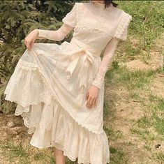 K Fashion, Cute Fashion, Korean Fashion, Fashion Outfits, Outfit Vintage, Vintage Dresses, Vintage Fashion, Pretty Outfits, Pretty Dresses