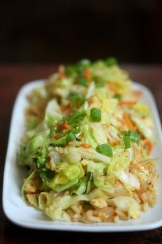 This cabbage fried rice recipe is great for a light winter meal. Cabbage is a super-healthy vegetable that is available year-round.