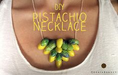 DIY pistachio & nail polish necklace