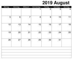 Kalender Frei 2019 August Accounting, Words, Thursday, Calendar, Horse