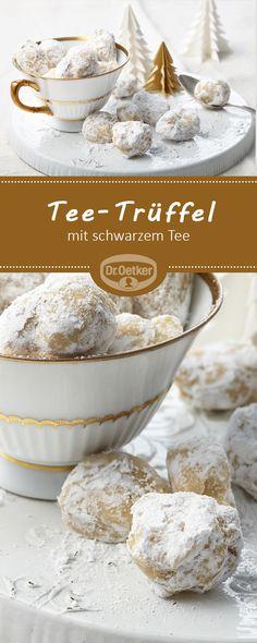 Tee-Trüffel: Pralinen mit schwarzem Tee