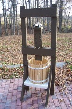 Whizbang Cider Press: plans and parts for building your own apple cider press.