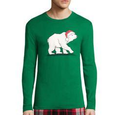 jcp | North Pole Trading Co. Family Pajamas Knit Sleep Shirt - Men's