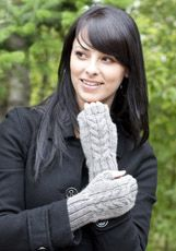 Cascade Yarns Eco Alpaca Free patterns - love these cabled wristers! Fingerless Gloves Knitted, Knit Mittens, Knitting Socks, Knitted Hats, Knit Socks, Mittens Pattern, Cascade Yarn, Wrist Warmers, Knitting Patterns