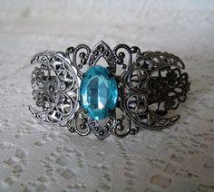 Triple Moon Goddess Cuff Bracelet wiccan jewelry by Sheekydoodle, $28.00