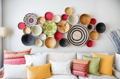 Propuestas para decorar con canastos de estilo étnico  #decoracion