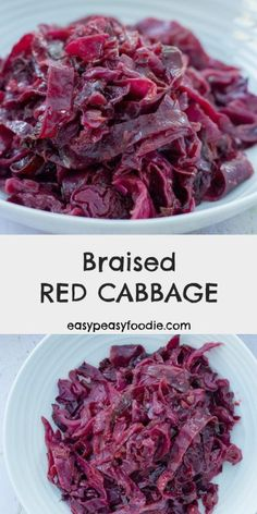 For me Christmas wouldn't be the same without braised red cabbage. Plus it's really easy to make and it's a great make ahead dish for Christmas and beyond! Spiced Red Cabbage, Red Cabbage Recipes, Braised Red Cabbage, German Red Cabbage, Purple Cabbage, Sauteed Red Cabbage, Sweet And Sour Cabbage, Red Cabbage Salad, Vegetable Recipes