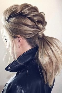 30 Inspiring Wedding Hairstyles By Tonya Stylist ❤️ Looking for inspiration to create a gorgeous wedding hairstyle? Get inspired with our collection of wedding hairstyles by Tonya Stylist. My Hairstyle, Ponytail Hairstyles, Pretty Hairstyles, Bridal Hairstyle, Updos, Braided Ponytail, Natural Hair Styles, Short Hair Styles, Best Wedding Hairstyles