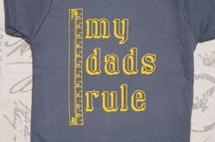 Cute My Dads Rule OnePiece for Kids with Gay Dads by LittleFigs, $18.50
