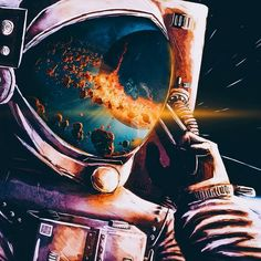 New Trippy Art Universe Cosmos Ideas Theme Tattoo, Astronaut Wallpaper, Space Illustration, Astronauts In Space, Space And Astronomy, Galaxy Art, Galaxy Space, Galaxy Wallpaper, Trippy Wallpaper