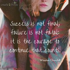 Remember: #courage is feeling the fear and doing it anyway. Work that courage muscle, baby!