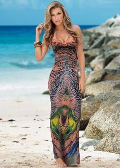 Vestido com detalhe nas costas laranja estampado encomendar agora na loja on-line bonprix.de R$ 139,00 a partir de Vestido longo confeccionado em poliéster ...