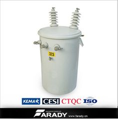 Farady  single phase pole mounted transformershttp://www.distribution-transformer.com/conventional-transformer/single-pole-transformer.html