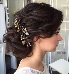 Pieced-out bridal updo by Art4Studio