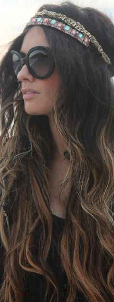 Stylish gypsy #hair #style #boho #waves
