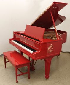 Rebuilt and custom refinished Knabe grand piano.