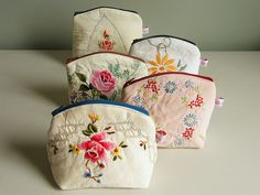 Irresistible Embroidery Patterns, Designs and Ideas. Awe Inspiring Irresistible Embroidery Patterns, Designs and Ideas. Vintage Handkerchiefs, Vintage Tablecloths, Embroidery Transfers, Embroidery Designs, Crewel Embroidery, Vintage Embroidery Patterns, Embroidery Kits, Vintage Crafts, Vintage Sewing