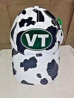 VT College NCAA Hat Cap VM Moo Brand USA Embroidery Adjustable Cow Print NWT #NCAA #BaseballCap