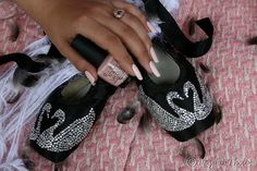 Black Swan Pointe Ballet Shoes by angelsunawares on Etsy, $99.99