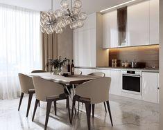 The True Meaning of Luxury Kitchen Design Ideas - fancyhomedecors Kitchen Room Design, Luxury Kitchen Design, Luxury Kitchens, Dining Room Design, Home Decor Kitchen, Kitchen Furniture, Interior Design Living Room, Family Kitchen, Sweet Home