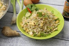 Tojásos sült rizs Wok, Fried Rice, Potato Salad, Grains, Potatoes, Ethnic Recipes, Youtube, Woks, Potato