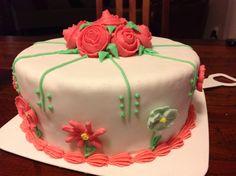Fondant flower cake.