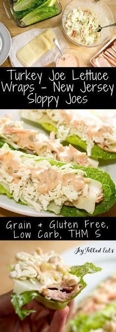 Turkey Joe Lettuce Wraps - New Jersey Sloppy Joe - Low Carb, Grain Free, Gluten Free, THM S via @joyfilledeats