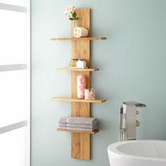 Wulan Hanging Bathroom Shelf - Four Shelves - Whitewash