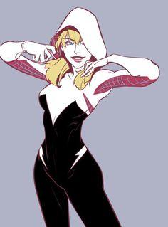 Spider-Gwen by Halcyon