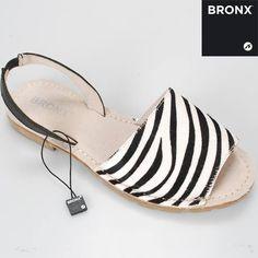 Zebra print bronx shoes