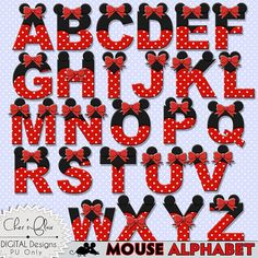 MOUSE ALPHABET LETTERS   Mouse Digital Letters by DigitalPackages
