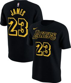 Nike Youth Los Angeles Lakers LeBron James Dri-FIT City Edition T-Shirt ab6b0aef7