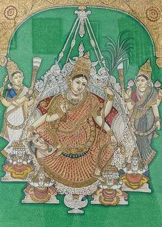 Yashoda Krishna, Krishna Hindu, Shiva, Mysore Painting, Madhubani Painting, Traditional Paintings, Traditional Art, Indian Art Paintings, Karnataka