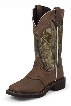 BOOT SALE & free shipping! Justin Women's #Camo Cowgirl Boots