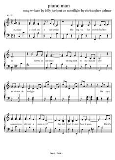 Piano Player, Piano Man, Sheet Music, Music Sheets