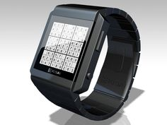 Sudoku Watch Concept...either I won't get anything done or throw it across the room and break it when I get frustrated...but I still want one, lol.