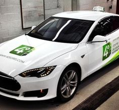 Taxi Electric will augment an existing fleet of Nissan Leaf electric cabs with Tesla Model S plug-ins. Tesla S, Tesla Motors, Quebec, All Electric Cars, Automobile, Tesla Roadster, S Models, Vehicles, Solar Power