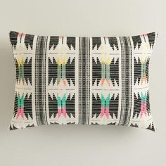 One of my favorite discoveries at WorldMarket.com: Multicolor Striped Boulevard Lumbar Pillow