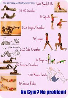 No Gym? No Problem!!